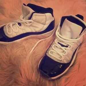 Black and white 11s RETRO Jordan's